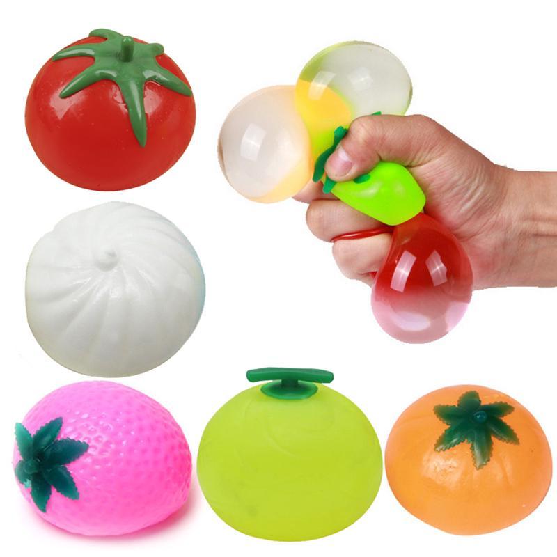 Creative Simulation Multishape Vent Fruit Reduce Stress For Kids Chlidren Toys