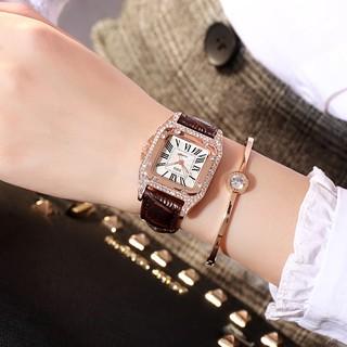 Đồng hồ nữ DZG dz02 chính hãng, mặt vuông cá tính, kiểu dáng thời trang