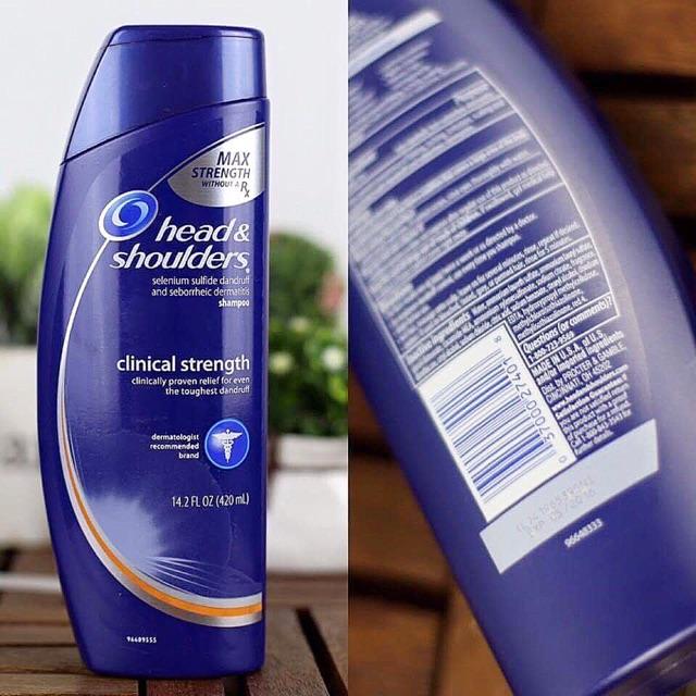 Dầu gội đặc trị gàu Head&Shoulder Clinical Strength Shampoo