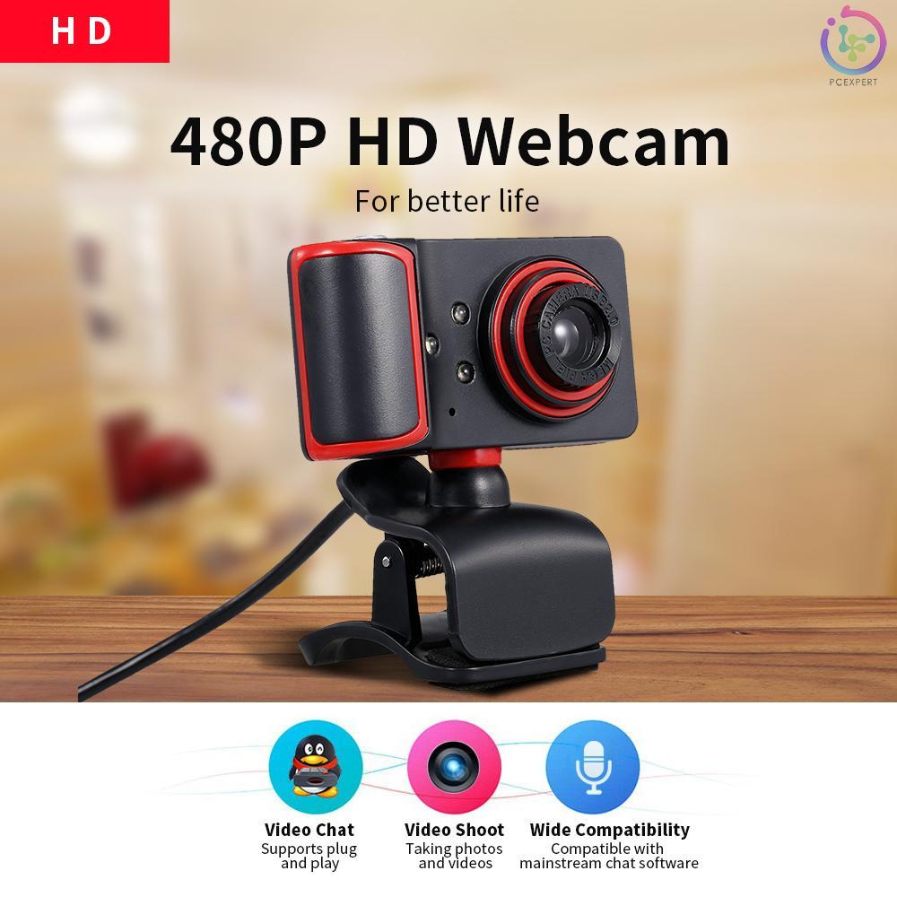 Webcam Hd 480p 5mp 30fps Tích Hợp Micro Cổng Usb Cho Laptop / Máy Tính Để Bàn