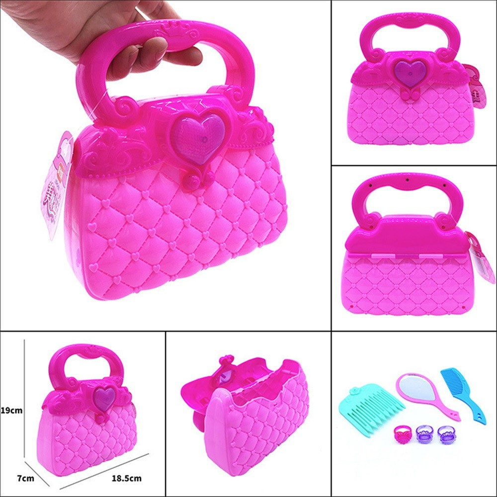 Princess Girl's Pretend Play Toy Deluxe Kawaii Handbag Toy Kids Educational Toy