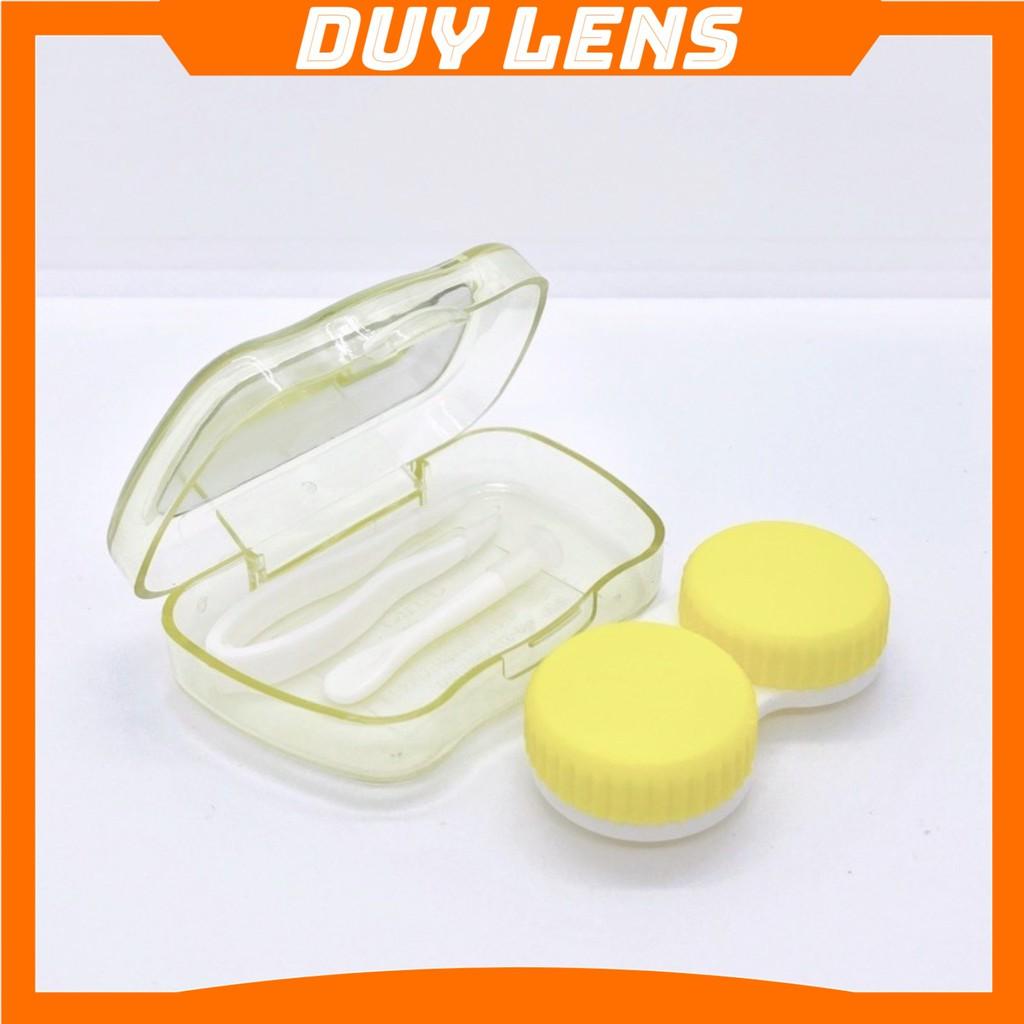 Khay Đựng Lens Mắt Đẹp ❤️FREESHIP❤️ Khay Gương Mini Có Dụng Cụ Đeo Lens Cận - Hộp Đựng Kính Áp Tròng Cận Loạn Giá Rẻ