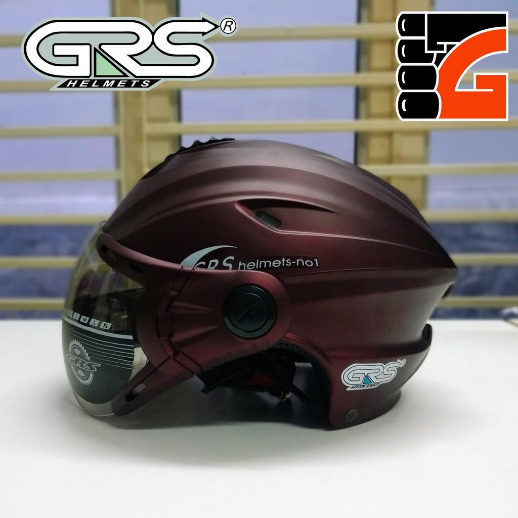 Mũ bảo hiểm nửa đầu GRS A760K màu nho nhám