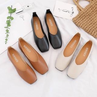 Giày búp bê nữ , Giày đế bằng nữ da mềm mũi vuông V219