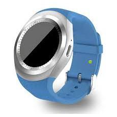 Đồng hồ thông minh mặt tròn thời trang Y1 xanh dương