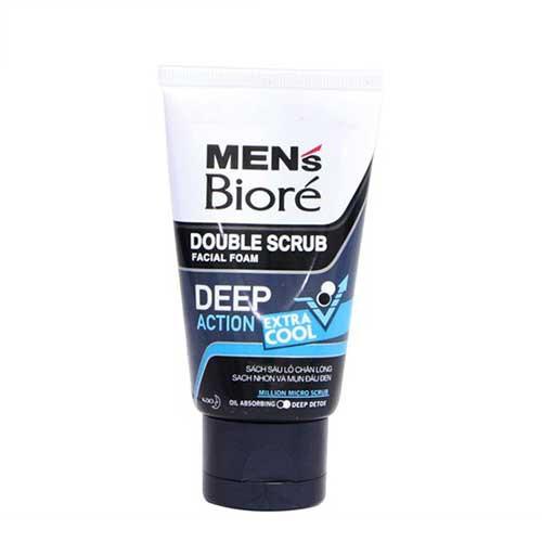 Sữa rửa mặt Mens Biore Extra Cool Sạch sâu lỗ chân lông mát lạnh