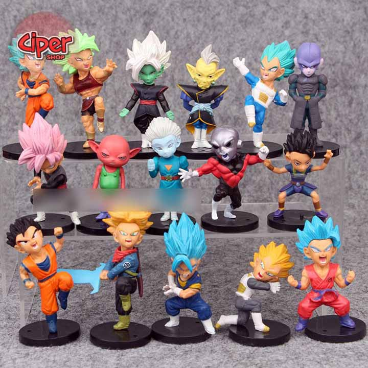Bộ 16 nhân vật Dragon Ball Siêu Cấp - Mô hình Dragon Ball