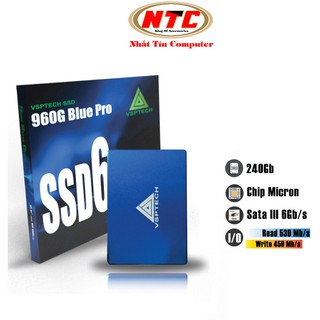 Ổ cứng SSD VSPTECH 960G Blue Pro dung lượng 240GB - tốc độ ghi 450MB s (Xanh) thumbnail
