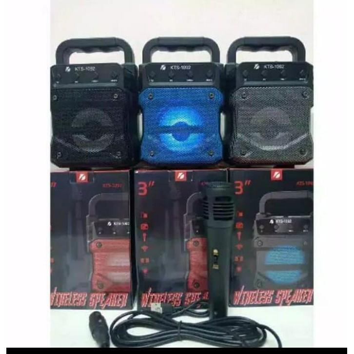 Loa Bluetooth Kts-1092 + Bonus Mic Karaoke