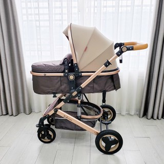 Xe đẩy nôi cao cấp BELECOO 2 chiều cho bé, giảm chấn giảm xóc - xe đẩy BELECO 2 chiều 3 tư thế cho bé thumbnail
