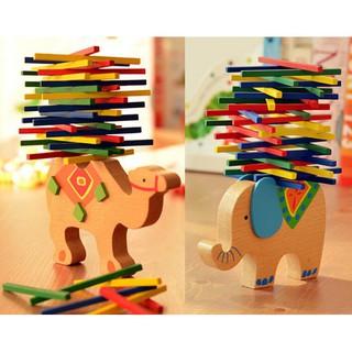 Camel Elephant Wood Educational Baby Toys