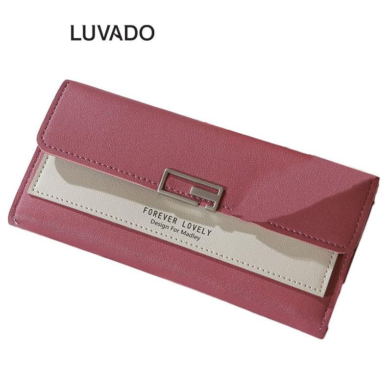 Ví nữ dài cầm tay cao cấp MADLEY đẹp đựng tiền nhiều ngăn LUVADO VD332