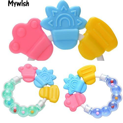 🏆1Pc Baby Circle Balls Teether Rattles Pacifier Bell Molar New Toy Tooth Care