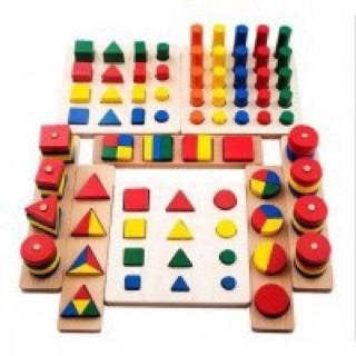 Đồ Chơi Gỗ - Bộ Giáo Cụ Montessori 8 Món Loại 1 Cho Bé