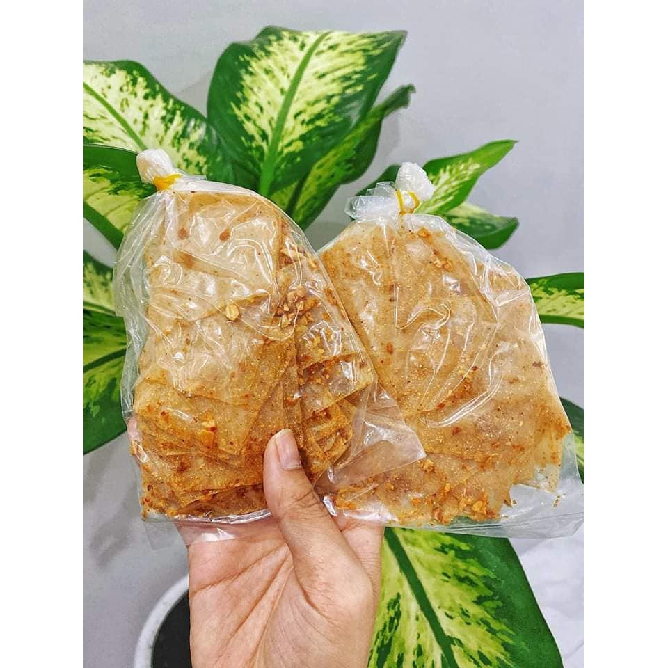 Bánh tráng muối nhuyễn tỏi phi