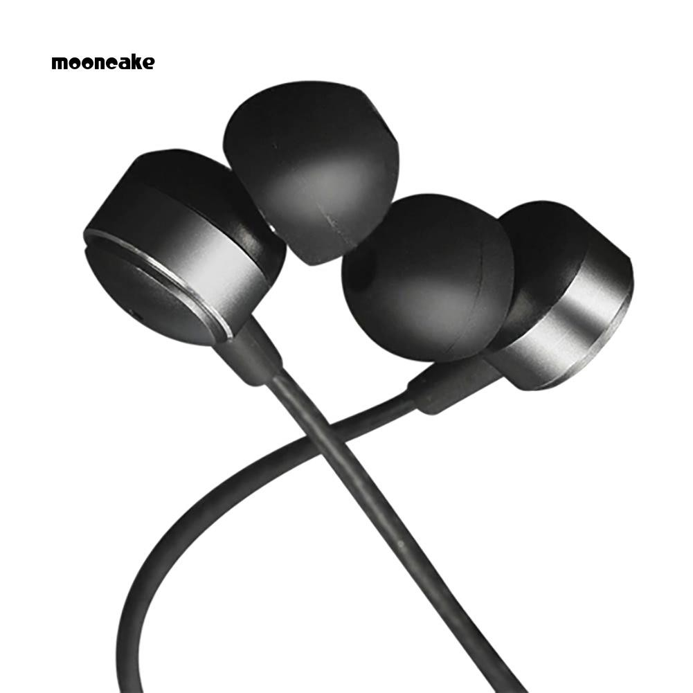 Moon Type C In-Ear Wired Metal Stereo Earphone In-line Control Headphone with Mic