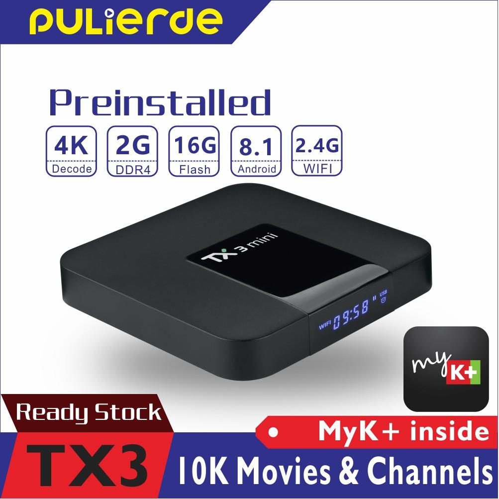 Hộp TX3 chuyển đổi TV thường thành 4K mini 2G DDR 16G FLASH S905W Android 8.1 với ứng dụng Việt Nam