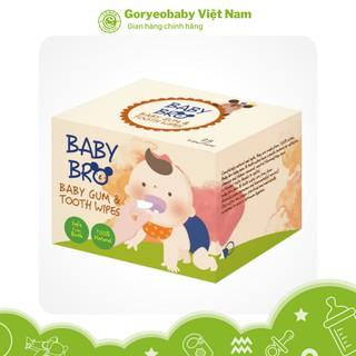 Gạc Rơ Lưỡi Lau Răng Miệng Hàn Quốc Baby Bro Chứa Xiliton Tự Nhiên An Toàn Cho Bé thumbnail