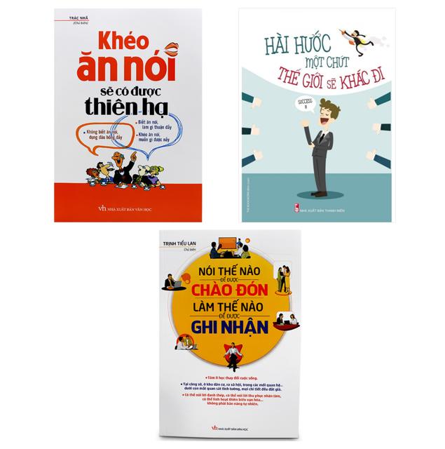 Sách - Combo Hài hước một chút thế giới sẽ khác đi + Khéo ăn khéo nói (2018)+ Nói thế nào để được chào đón