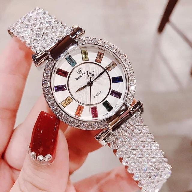 Đồng hồ ROYA nữ đính đá sang trọng, TẶNG TAI NGHE BLUETOOTH,