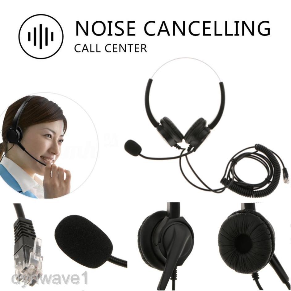 Tai nghe RJ9 kèm micro chống ồn dùng cho cuộc gọi chăm sóc khách hàng