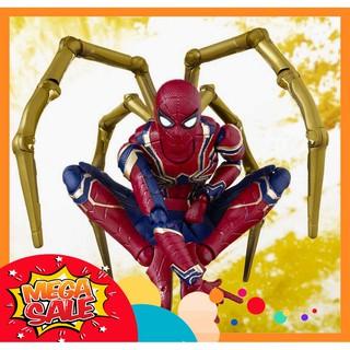 [CÓ SẴN][SALE] Mô Hình Người Nhện Spider Man Iron Spider Phong Cách SHF – S.H. Figuarts Full Box