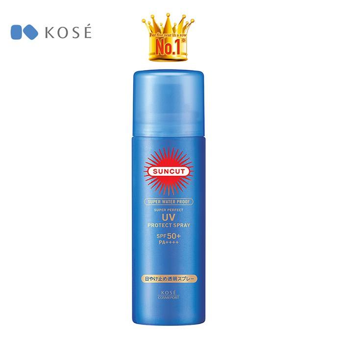 4971710388596 - Chống Nắng Dạng Xịt Siêu Chống Thấm Nước Kosé Cosmeport Suncut UV Protect Spray Supe