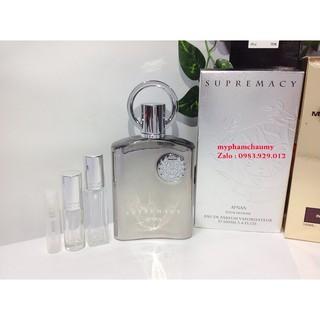 [Mẫu thử] Nước hoa Afnan Perfumes Supremacy 2,5,10ml thumbnail