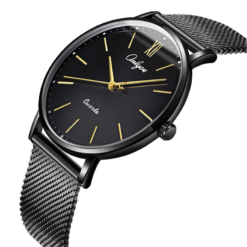 Đồng hồ Onlyou Nam 81176GD Dây thép không gỉ 40mm