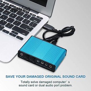 [star]6 Channel External Sound Card 5.1/7.1 Optical S/PDIF Audio Sound Card Adapter