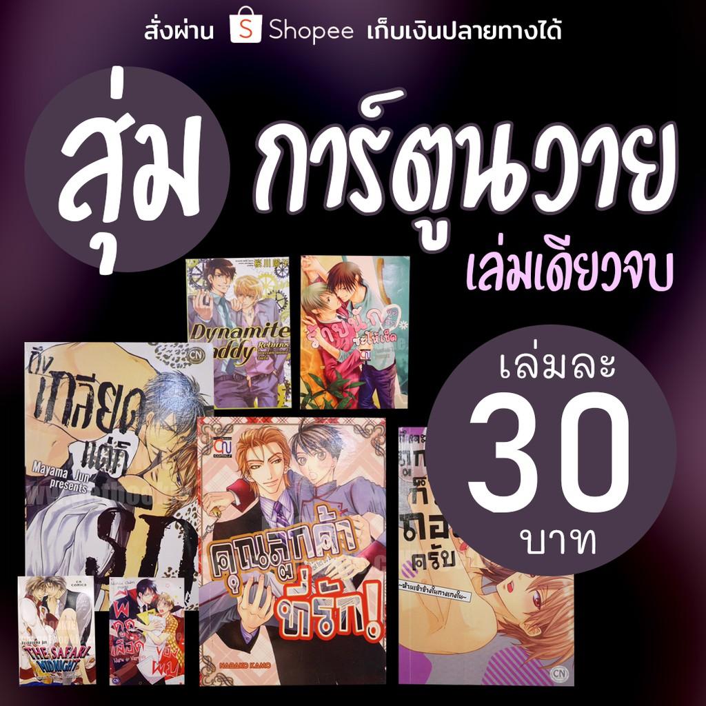 สุ่มการ์ตูนวาย Yaoi ทุกสำนักพิมพ์ เล่มละ 30 บาท