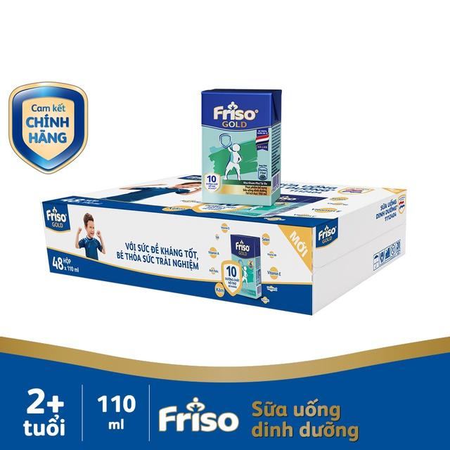 [Nhập Mã MKBMFRI38 Giảm 38K] Thùng 48 hộp Sữa uống dinh dưỡng Friso Gold (110ml/hộp)