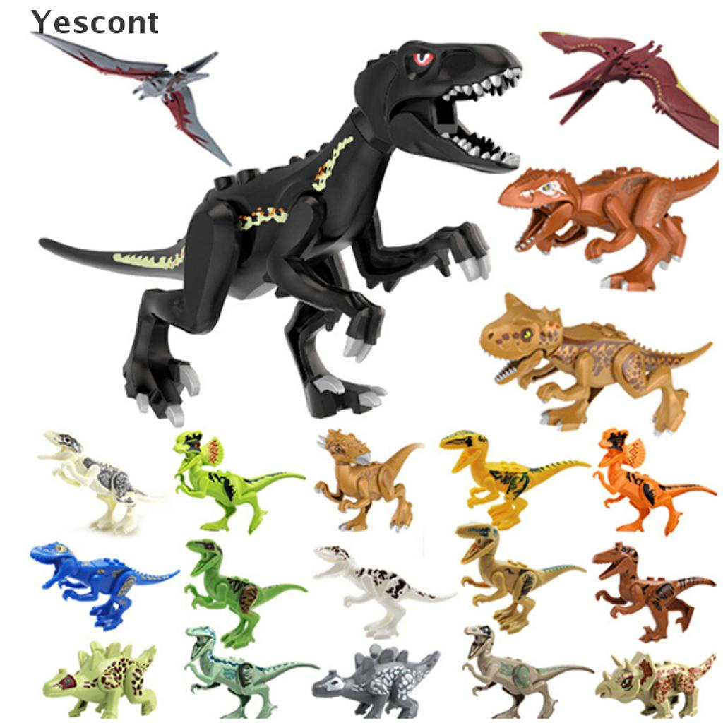 Yescont Jurassic Dinosaur Building Blocks Kids Children Toy Compatible with Lego .