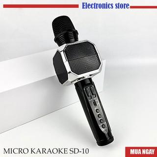 Micro Karaoke Kiêm Loa Bluetooth Sd10 Chính hãng, bảo hành 06 tháng