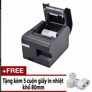 ⭐Máy in hóa đơn K80⭐, in bill chuyển nhiệt khổ 80mm tự động cắt giấy, cổng USB, cổng LAN và Wifi Xprinter N160ii