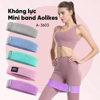 [RẺ❤️SỐC] Dây Thun Kháng Lực Vải Cao Su Miniband Aolikes A-3603 Tập Gym, Dây Chun Đàn Hồi Co Giãn Tập Mông Chân