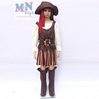 Set hóa trang nữ cướp biển cho bé chơi Halloween