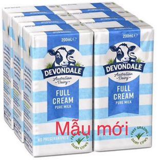 Sữa úc devondale 200ml.date 31.7.2021