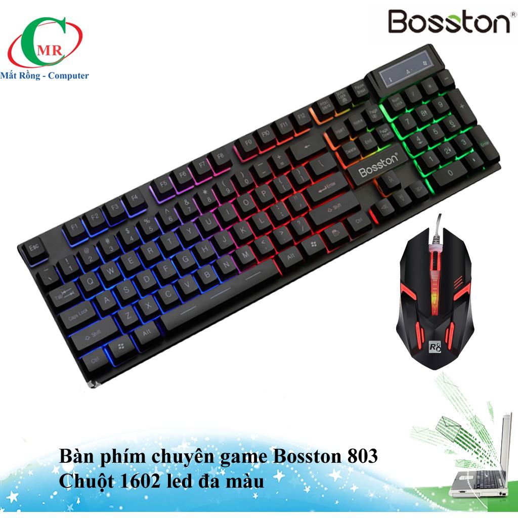 Combo bàn phím Bosston 803 và chuọt đèn led 1602 chuyên game - 3444104 , 1002101494 , 322_1002101494 , 210000 , Combo-ban-phim-Bosston-803-va-chuot-den-led-1602-chuyen-game-322_1002101494 , shopee.vn , Combo bàn phím Bosston 803 và chuọt đèn led 1602 chuyên game
