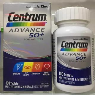 (FREE SHIP – Hàng chính hãng Úc) Vitamin tổng hợp cho người trên 50 tuổi – Centrum Advance 50+ 100 viên