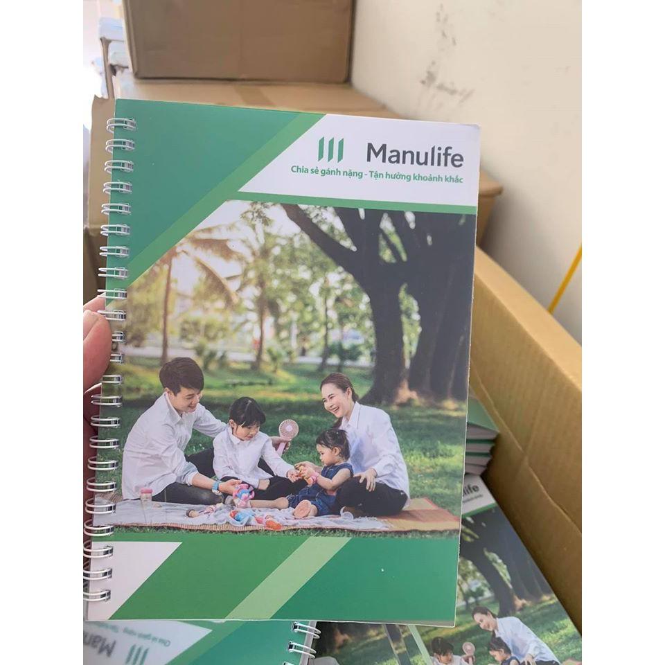 [GIÁ HỦY DIỆT]Sổ tay Manulife 150 trang. Quà tặng bảo hiểm. Mẫu mới nhất năm 2020