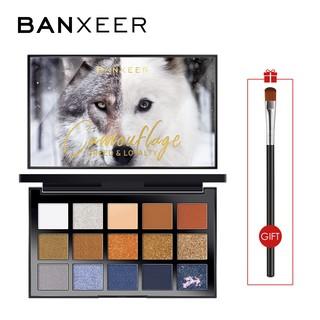 Bảng phấn mắt BANXEER 15 màu sắc tông lì lấp lánh trang điểm tiện dụng 200g thumbnail