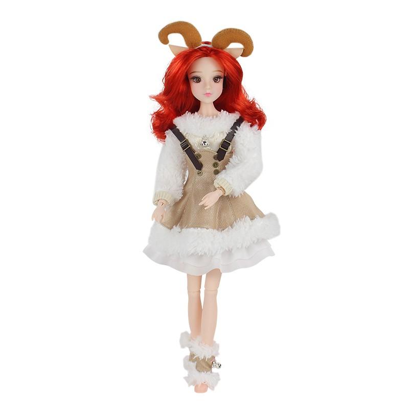 Búp Bê Barbie 6 Chòm Sao 30cm Mặc Đầm Xinh Xắn Kích Thước 30cm