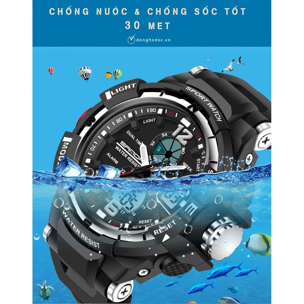 Đồng hồ thể thao nam SANDA JAPAN OLIVER Chống nước Siêu bền