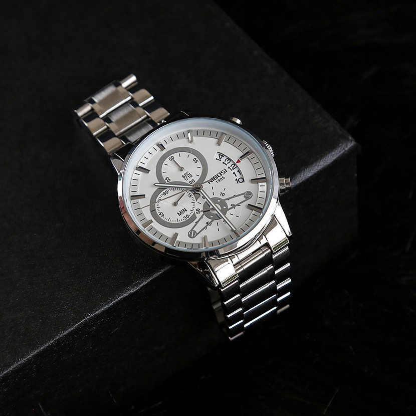 Đồng hồ nam NIBOSI chính hãng NI2309-1.06D - tặng dụng cụ tháo chốt và vòng phong thu