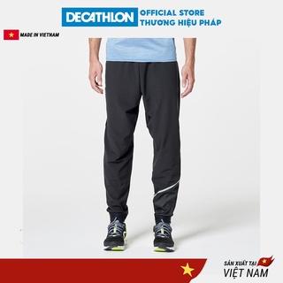 Quần dài chạy bộ cho nam DECATHLON run dry nhanh khô có túi - đen thumbnail