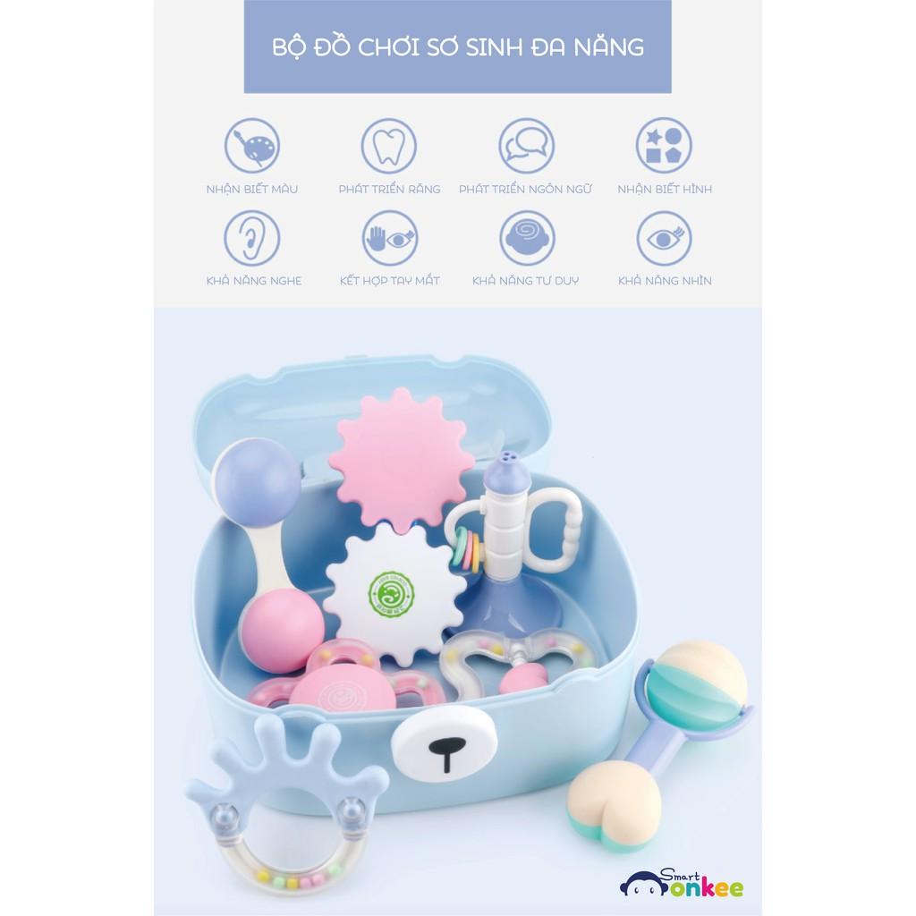 Set đồ chơi cho trẻ sơ sinh GORYEO HÀN QUỐC – 7 món – xúc xắc gặm nứa
