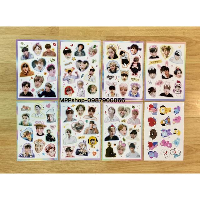 Conbo ảnh sticker BTS , EXO , BLACKPINK , WANNAONE