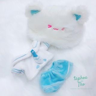 [Có sẵn] Outfit thủy thủ mèo xanh cho doll 15cm