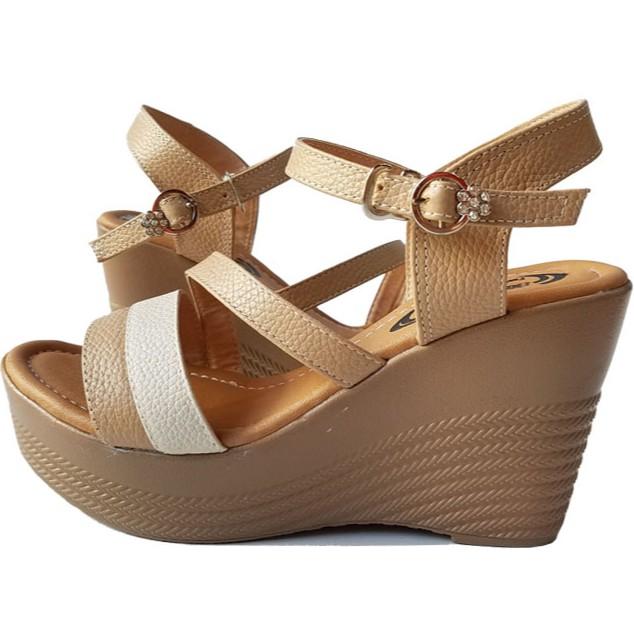 Giày sandal xuồng nữ BIGGBEN da bò thật cao cấp HKD046